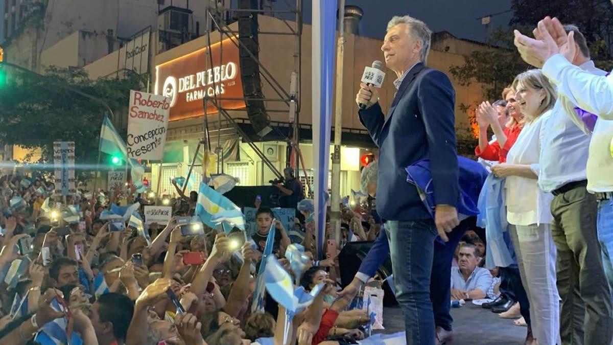 Macri se dirigió a los militantes. Foto: twitter.com/JCanoOK