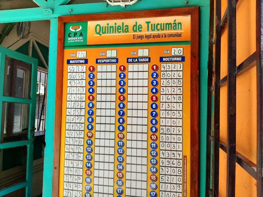 Quiniela de Tucumán: saltó la banca con el 22
