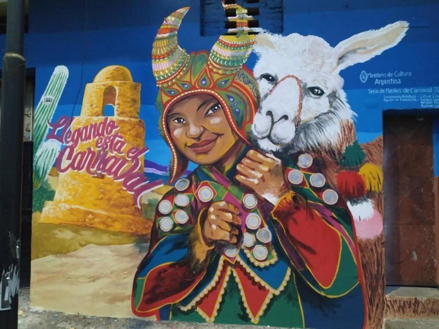 El Abasto y un mural de carnaval que le da vida al barrio