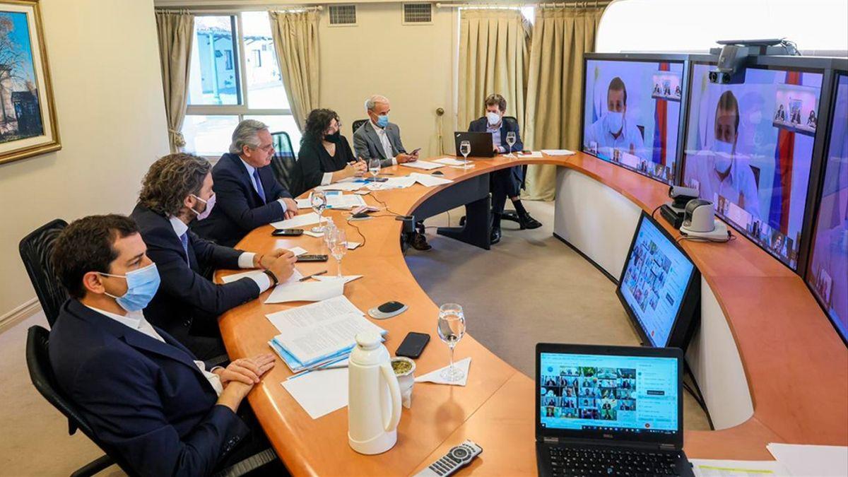 Contagios y medidas: Fernández se reúne con gobernadores