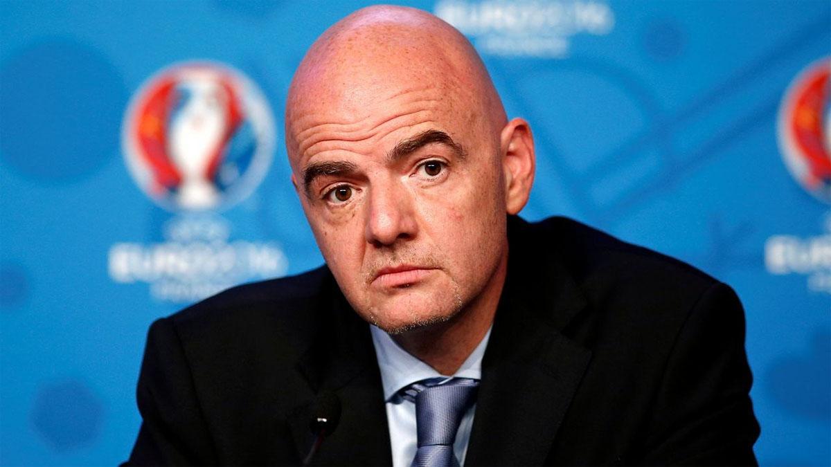Infantino es el presidente de FIFA.