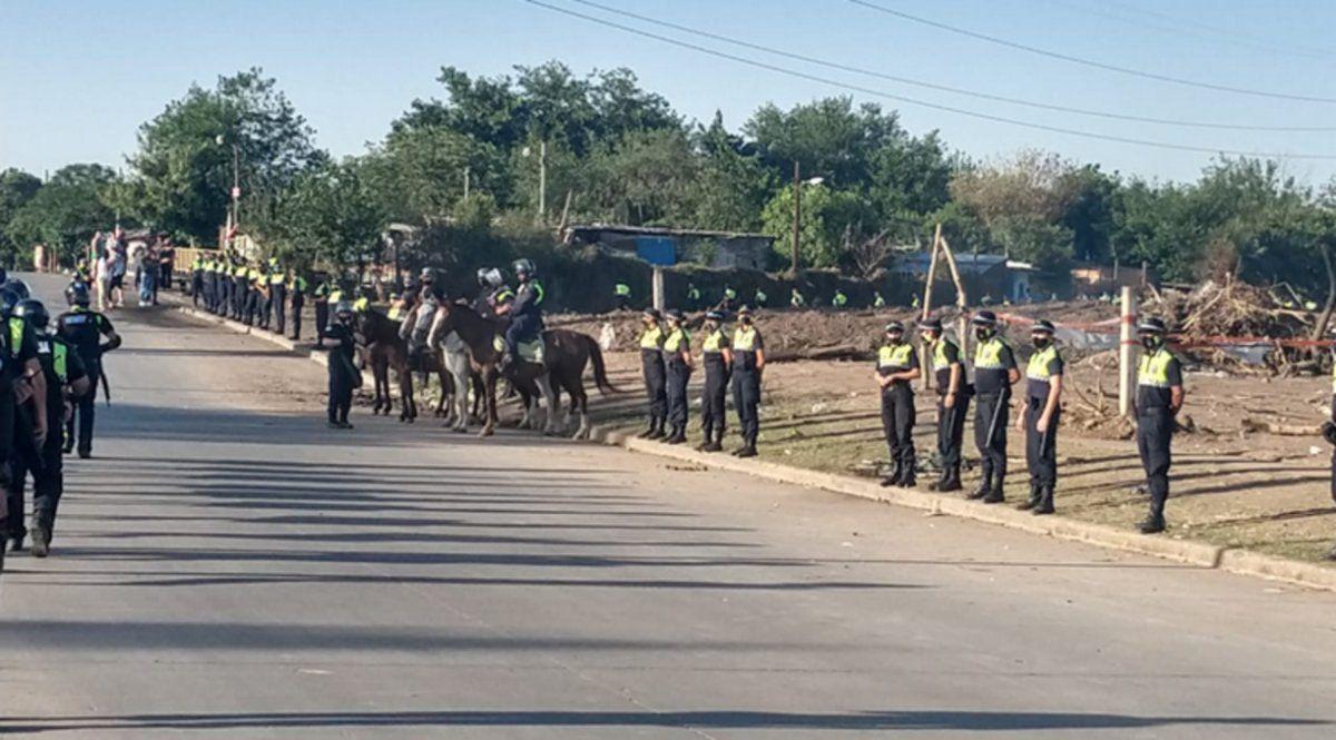 Desalojo en Villa Muñecas: se resolvió de manera pacifica