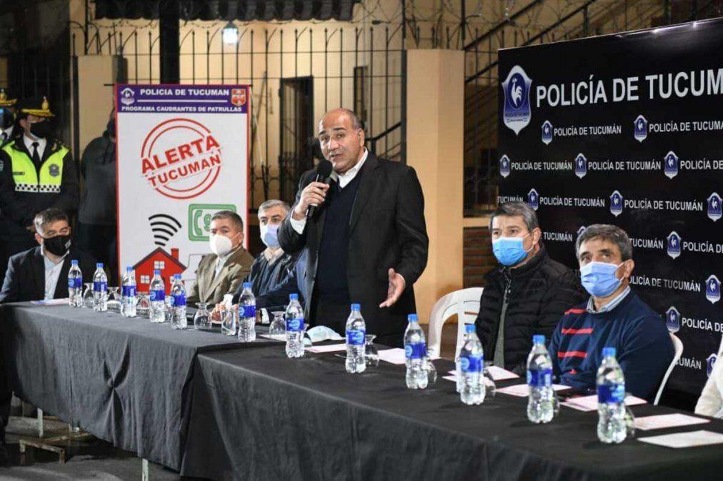 Manzur puso en marcha el programa Alerta Tucumán. Foto: comunicaciontucuman.gob.ar