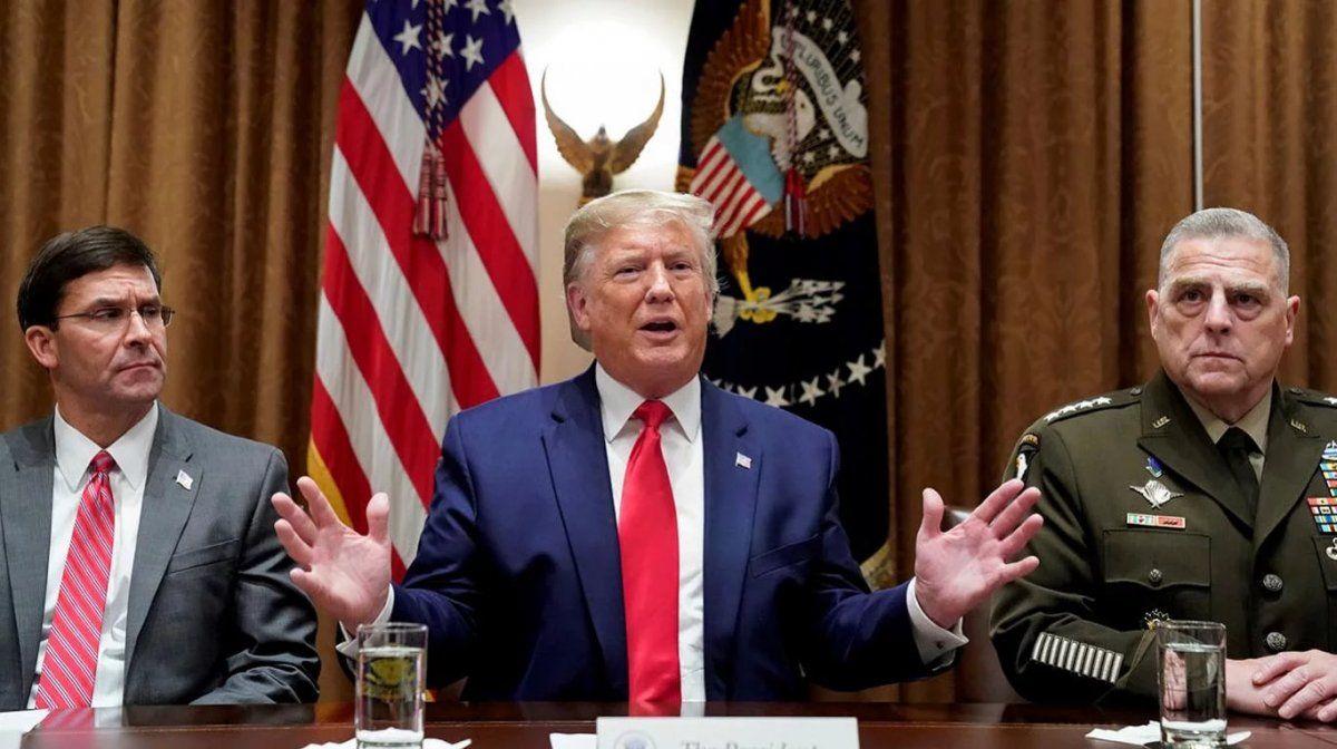 El Pentágono contradijo a Trump sobre un plan iraní