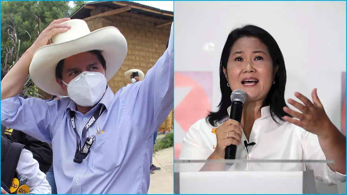 Pedro Castillo y Keiko Fujimori se acercan al ballotage
