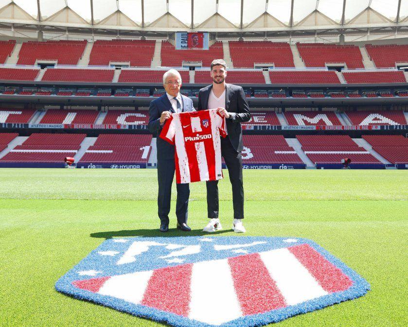 Rodrigo De Paul firmó su contrato hasta 2026 con el Atlético de Madrid. Foto: iamnoticias.com.ar