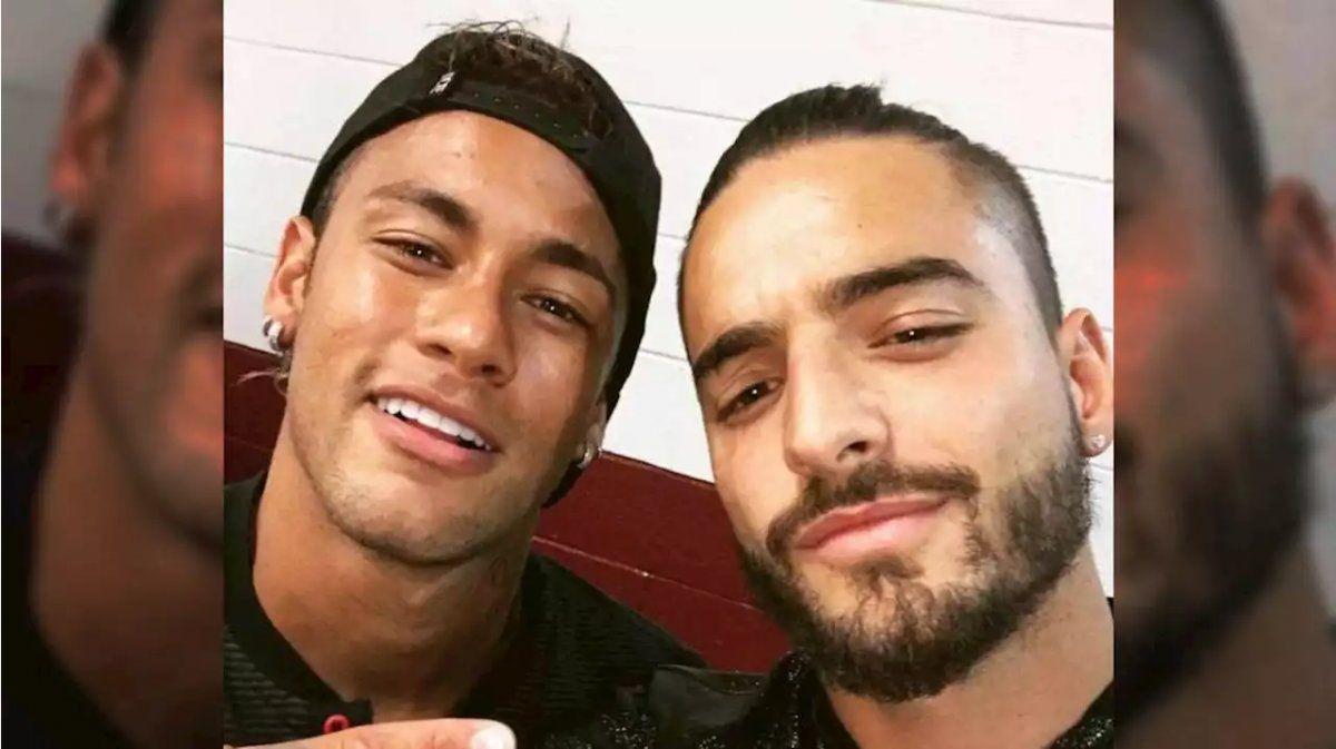 Maluma cerró Instagram luego de que Neymar se burlara de él