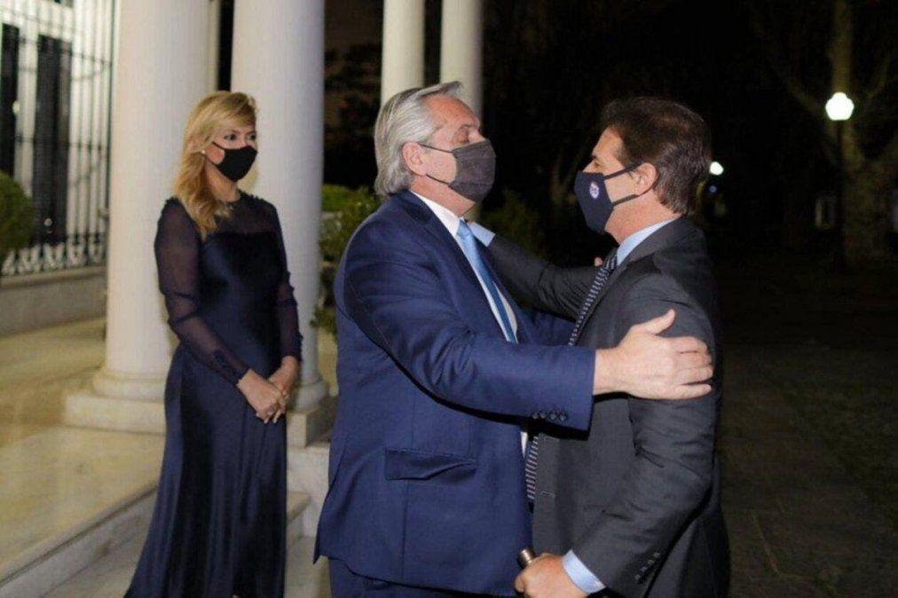 Alberto Fernández recibió a Lacalle Pou