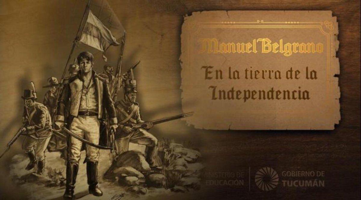 Historietas animadas sobre el paso de Belgrano por Tucumán