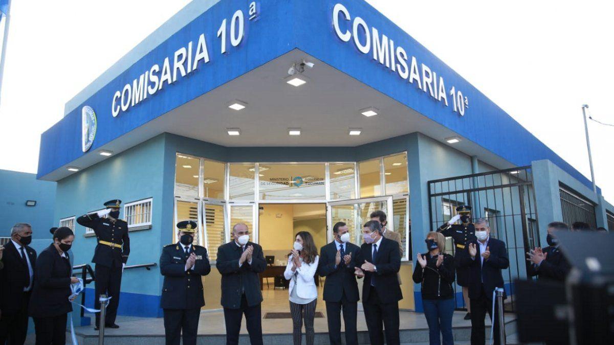 Manzur dejó inaugurada la refaccionada Comisaría Décima