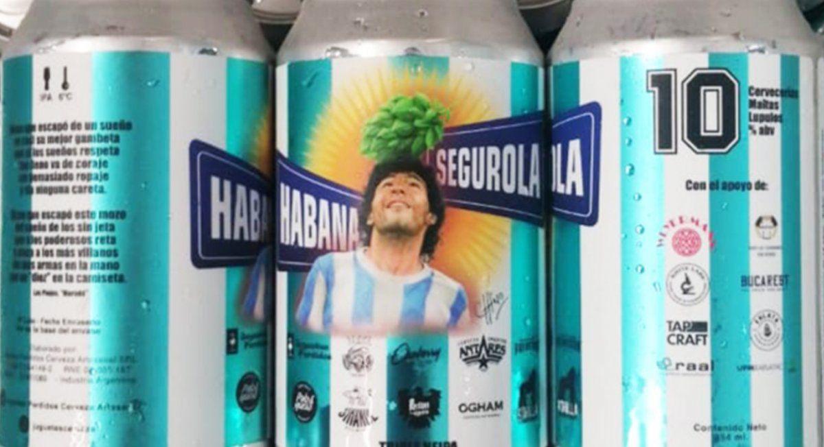 Cervecerías se juntaron para homenajear a Diego Maradona