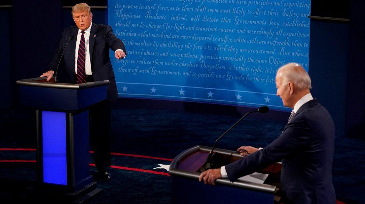 Trump y Biden se enfrentaron en el primer debate presidencial