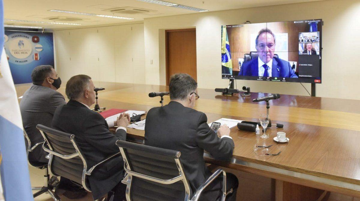 Jaldo impulsó con Scioli las relaciones comerciales con Brasil