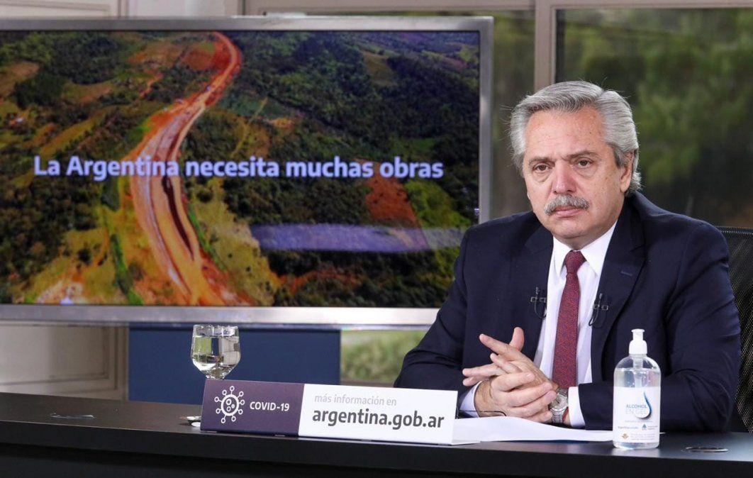 Alberto Fernández anunció obras para cinco provincias