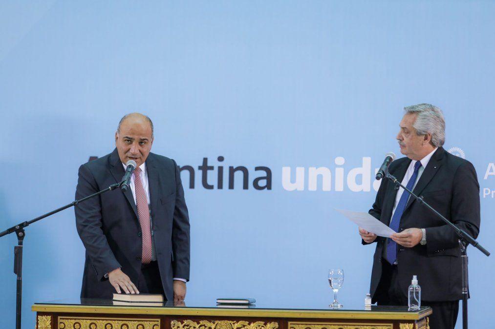 Juan Manzur asumió como jefe de Gabinete de la Nación