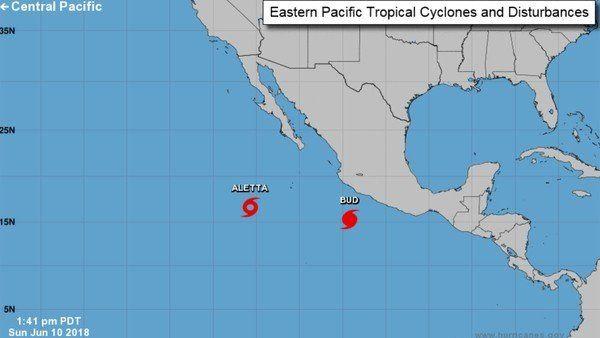 Se formó el huracán Bud y avanza frente a las costas mexicanas del Pacífico