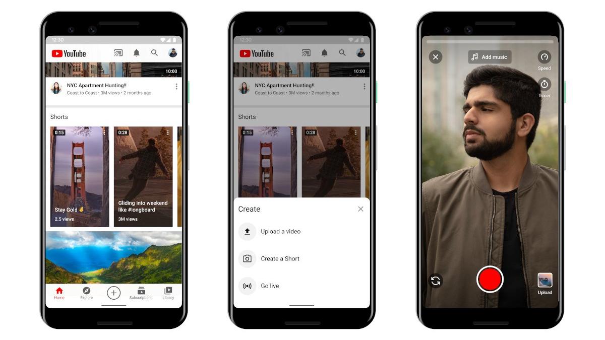 YouTube sumara una función de videos breves con Shorts