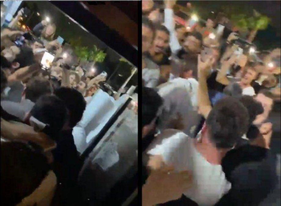 Locura por Messi en Miami: sus fans lo asediaron en un bar