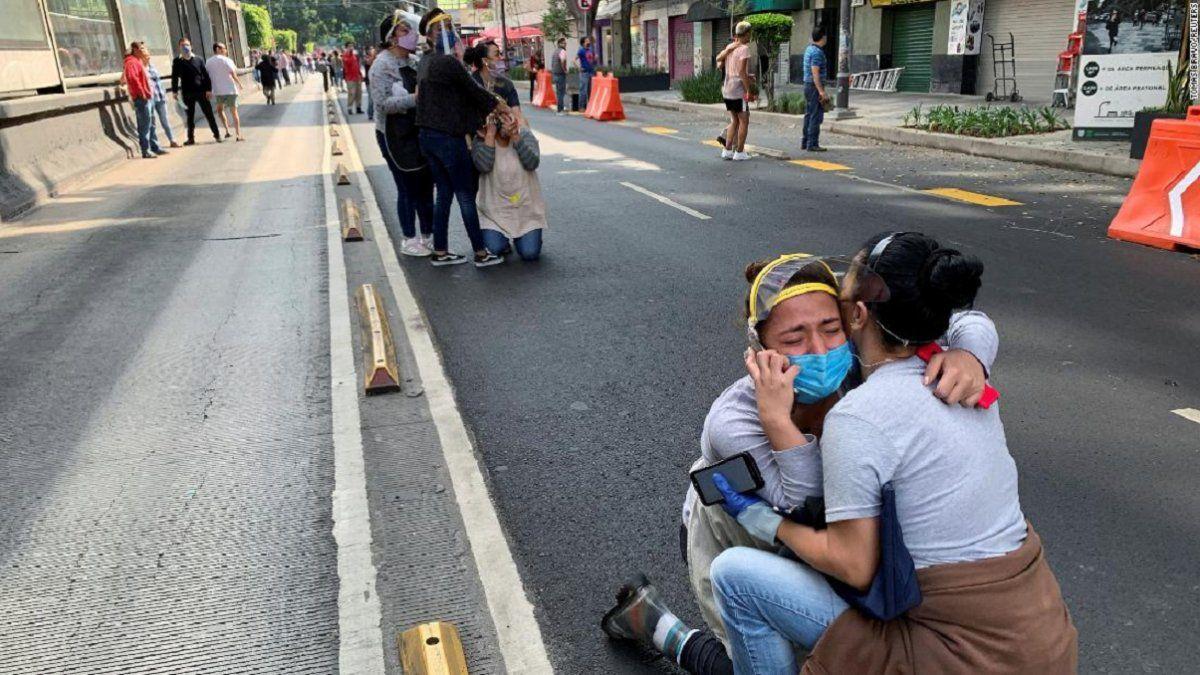México: un sismo de 7,5 grados dejó al menos dos muertos