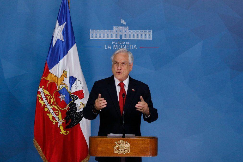 Piñera:Chile está en guerra contra un enemigo poderoso