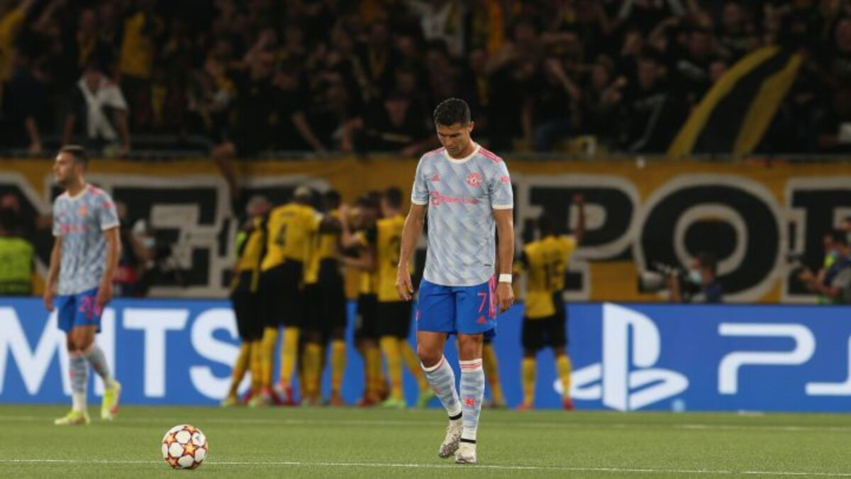 Manchester United cayó por 2 a 1 ante Young Boys por la Champions League. Foto: Diario AS.