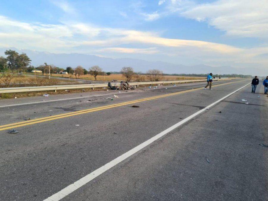 El accidente sobre ruta 38 en Aguilares fue el domingo a la madrugada. Foto La Gaceta