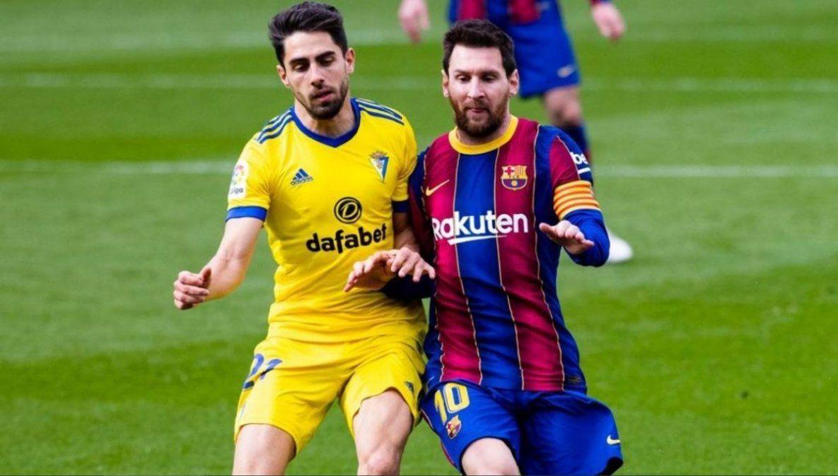 Récord de Messi y empate del Barcelona ante Cádiz