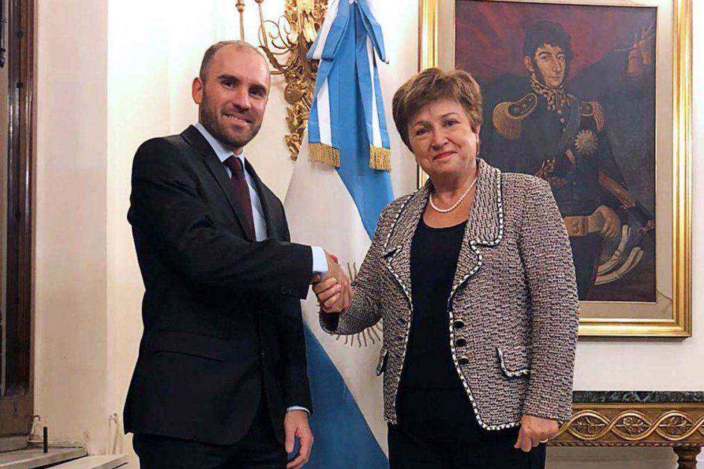 Guzmán presentó ante Merkel su propuesta para el FMI