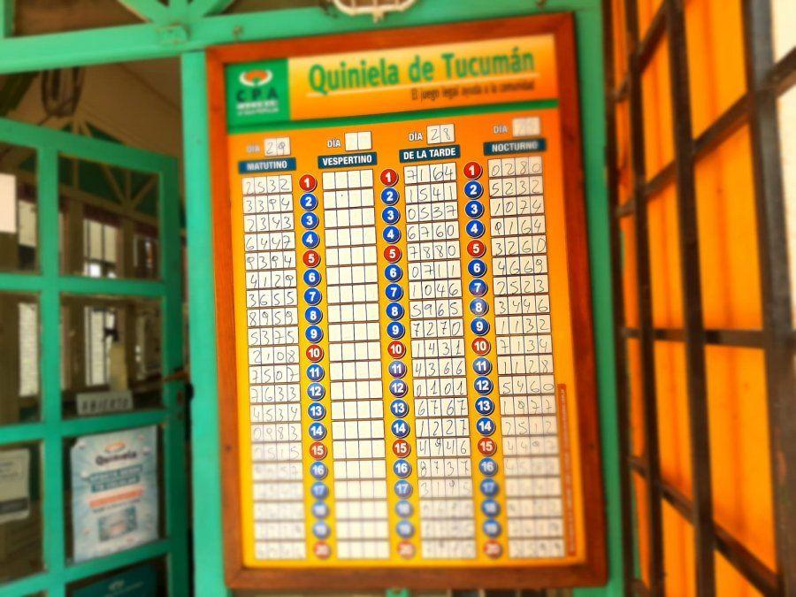 Quiniela de Tucumán: saltó la banca con el 32
