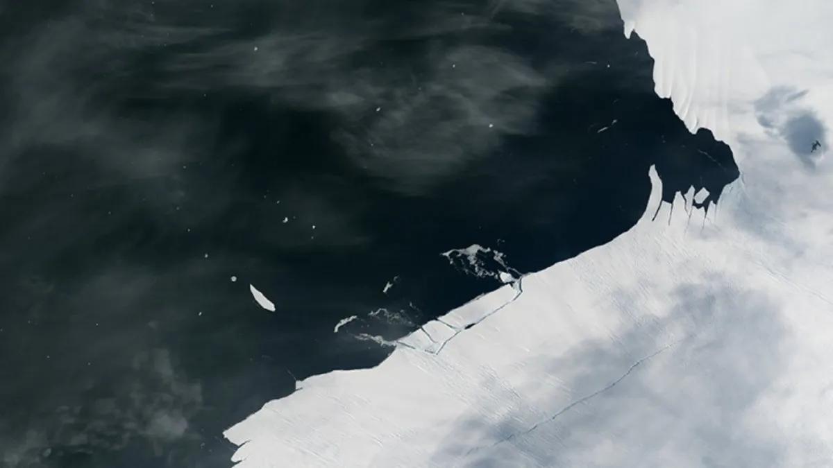 Antártida: detectan el desprendimiento de un témpano