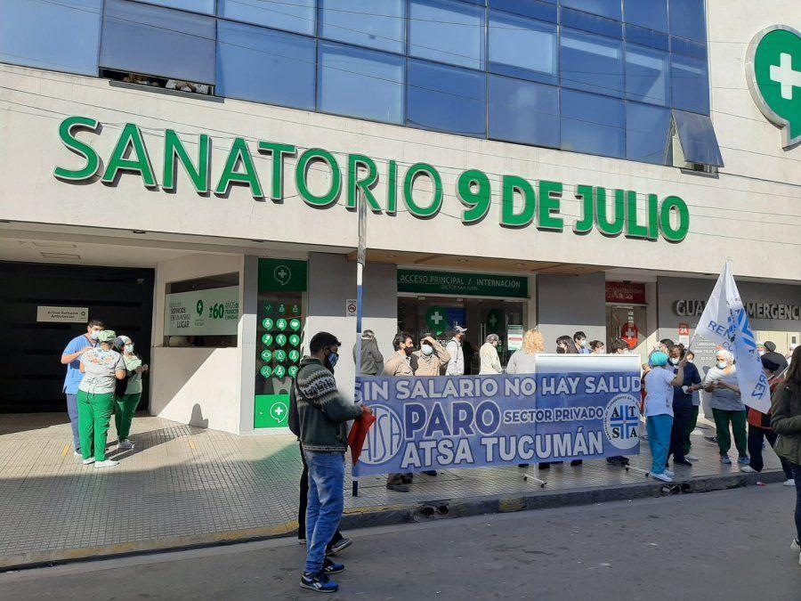 ATSA protestó en clínicas y sanatorios de Tucumán