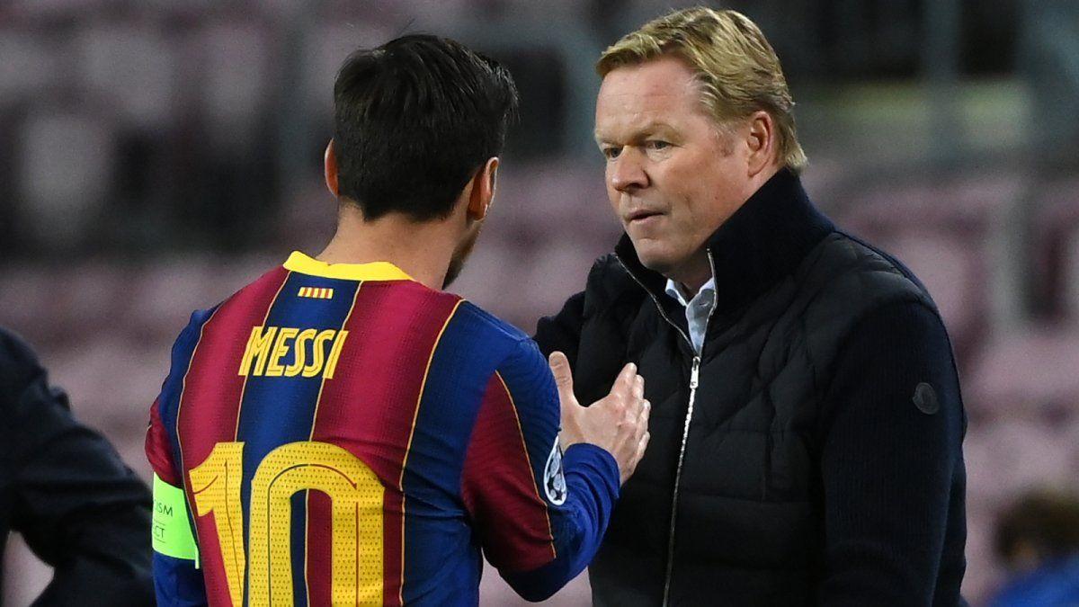 ¿Qué dijo Koeman sobre la continuidad de Messi?